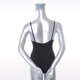 Black Cotton & Spandex Leotard  BL-DSG216001