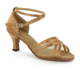 Tan satin Sandal  D1603-1