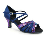 Blue satin & purple sparkle Sandal  D1668-2