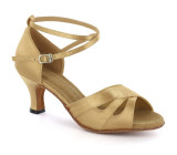 Gold Satin Sandal  D1682-1