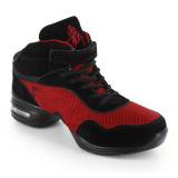 Black Leather & Red Mesh Sneaker  DS61602