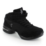 Black Leather & Black Mesh Sneaker  DS61603