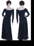 Black Lycra & Lace Dress  WH-XZW-B003