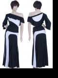 Black & White Sateen &Sateen Dress  WH-XZW-B004
