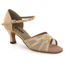 Brown Satin & Mesh Sandal  LS160505s