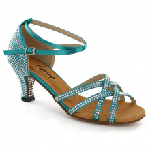 Blue Satin with Rhinestones Sandal fls1621T-5