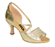 Gold Patent with Glitter Sandal  LS165201