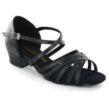 Black Synthetic Leather Sandal adls167001
