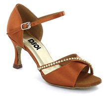 Brown Satin Sandal  LS172904