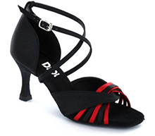 Black & red satin Close-toe  LS173102