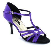 Purple Satin Sandal  LS173502