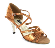 Brown Patent leather Sandal  LS173801