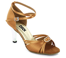 Tan Satin Sandal LS174101