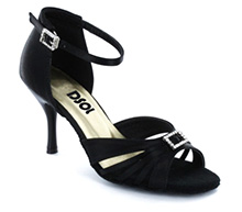 Black Satin Sandal  LS174201