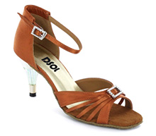 Brown Satin Sandal  LS174202