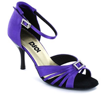Purple Satin Sandal LS174205