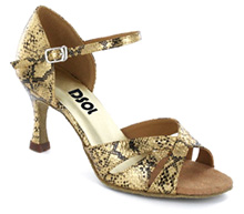 Black & gold leather with Suede sole Sandal  LS174303