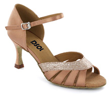 Flesh satin Sandal  LS174505