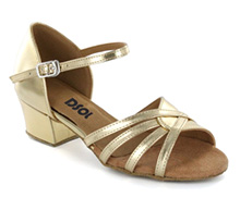 Gold leather Sandal  LS174903