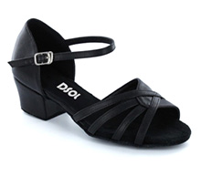 Black leather Sandal  LS174908
