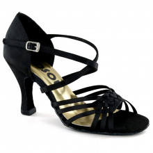 Black Satin Sandal 176501