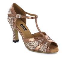 Brown patent with Close-toe  LS271203