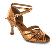 Brown patent Close-toe  LS271301