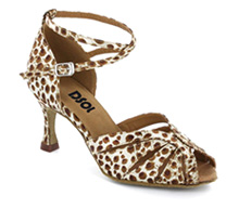 Leopard satin Close-toe  LS271304