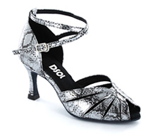 Black & Silver leather Close-toe  LS271306