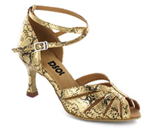 Gold & black leather Close-toe  LS271307