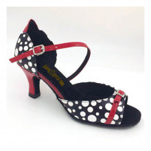 Black & Red Patent Leather Sandal adls283601