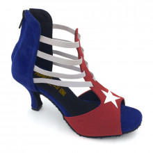 Red & Blue Velvet Strappy Sandal adls285201