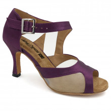 Purple Satin & Mesh Sandal adls288901