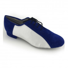 Blue Corrected Grain Leather & White Satin Men's Standard adms352201
