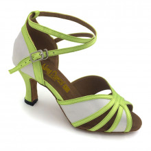 Green & White Satin Sandal adls373902