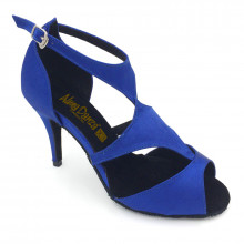 Royal Blue Satin Sandal adls374001