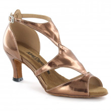 Bronze Patent Leather Satin Sandal adls374003