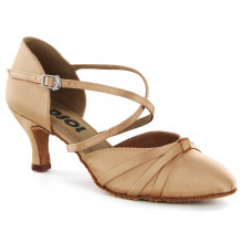 Tan Satin Pump  LP683601-1