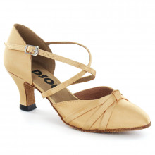 Tan Satin Pump  LP683603-1