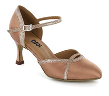 Light brown satin Pump  LP685501