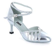 Silver leather Pump  LP685707
