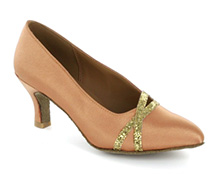 Brown satin Pump  LP691204