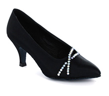 Black satin Pump  LP691301