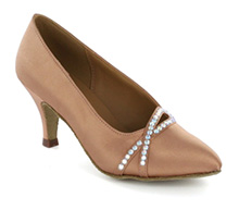 Light brown satin Pump  LP691302