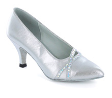Silver satin Pump  LP691305