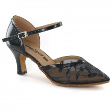 Black Patent Leather & Mesh Pumps adlp791205