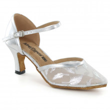 Silver Patent Leather & Mesh Pumps adlp791206