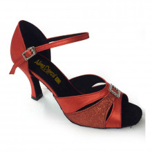 Red Satin & Sparkle Sandal adls89064