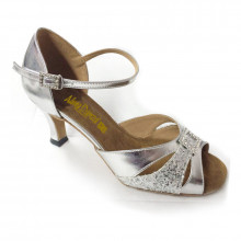 Silver Patent Leather & Sparkle Sandal adls89065