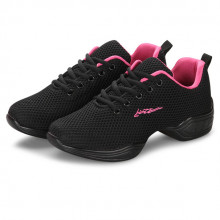 Black Net & Rose Cushion Dance Sneaker DS668101